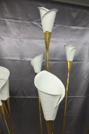 Calla Blüten aus abgehämmertem Aluminiumblech