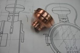 Haube für Lokomotivenlampe