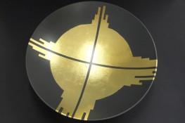 Goldsymbol in der Schale